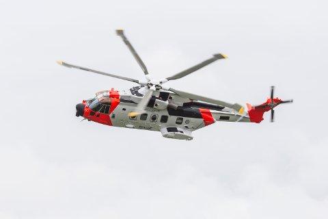 KAN LANDE: Helse Nord-Trøndelag HF anbefales nå å utarbeide prosedyre for bruk av helikopterplassen ved sykehuset for å kunne ta imot det nye redningshelikopteret, SAR Queen.