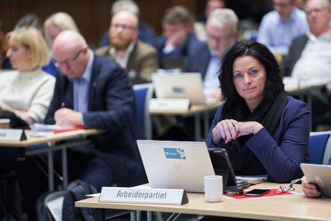 SKADELIG FOR SNK: Leder May Britt Lagesen (Ap) i hovedutvalg for kultur mener konflikten rundt eierskapet i SNK er skadelig for selskapet. Hun fikk med seg flertallet i hovedutvalget på å be rådmannen om ytterligere utredninger før de vedtar hvordan de vil ha den fremtidige organiseringen av SNK.