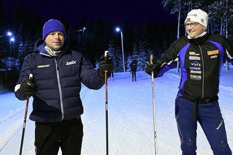 GÅR OPP SPOR: Sivert Rannem og Kjetil Mollan i Inderøy IL har begge vært primus motor og idémakerne bak 24 timerrennene som har gått som en farsott i distriktet de siste ukene.