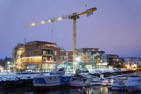 LEVANGER BRYGGE: En rekke leiligheter i trinn 1 av Levanger brygge er overtatt av kjøperne den siste tiden.