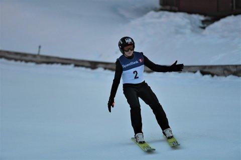 LANDET: Jonas Bjerkem fra Steinkjer Skiklubb.