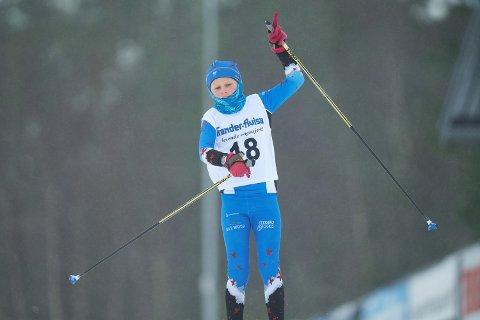 SEIER: Elias Sæther Piggot fra Beitstad IL under TA-sprinten på Henningvola: – Det er artig for man blir ikke så sliten.