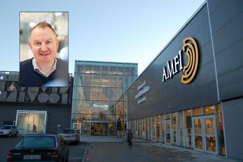 FORBEREDT: Senterleder Erik Gjemble ved Amfi Steinkjer sier de har fulgt smittesituasjonen tett siden torsdag og at de var forberedt på en nedstengning.