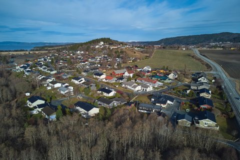 Ydsedalen i Verdal. Dronefoto Verdal kommune.