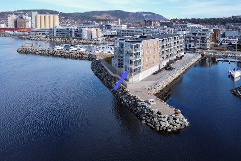 REKORD: Leiligheten på Jæktholmen er den tidenes dyreste leilighet i Steinkjer.