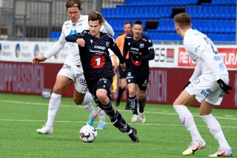 I DRIVET: Selv om KBK har slitt voldsomt i sesongoppkjøringen har førsteårs fotballproff, Sander Erik Kartum, fått mange gode tilbakemeldinger.