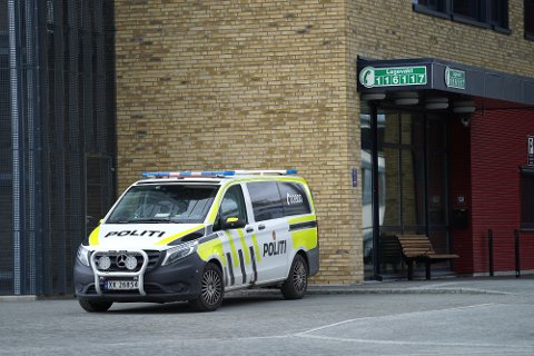 KJØRT TIL LEVANGER: Mannen som blåste til langt over lovlig verdi i Inderøy fredag, ble fraktet til legevakta i Levanger for å avgi blodprøve.