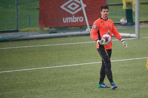 Andrej Novak, her fra en kamp for Steinkjer mot Verdal i 2018, har nå signert for Levanger FK.