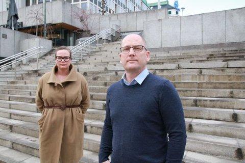 VARSLER KAMP: Forhandlingsleder Steffen Handal og nestleder Silje Naustvik i Unio kommune. Foto: Arun Ghosh, Utdanningsforbundet