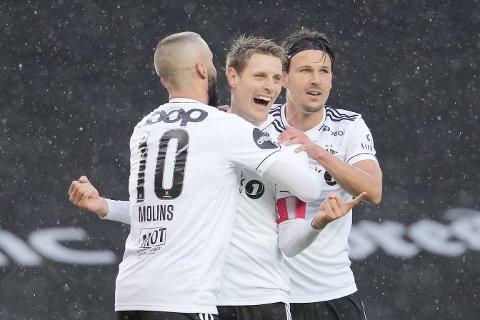 HATTRICK: Rosenborgs Kristoffer Zachariassen reddet RBK med tre scoringer.
