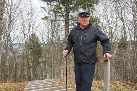 FULL KONTROLL: Nedjeljko (Neđo) Erić (83) er helt sjef i trimtrappen på Staup.