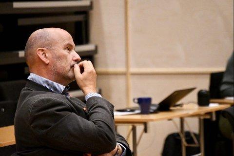 FIKK IKKE MEDHOLD:  Tore Wold (H) og resten av opposisjonen fikk ikke medhold i sitt forslag om å utsette godkjenningen for bygging av fire blokker på Gangstadhaugen i Steinkjer.