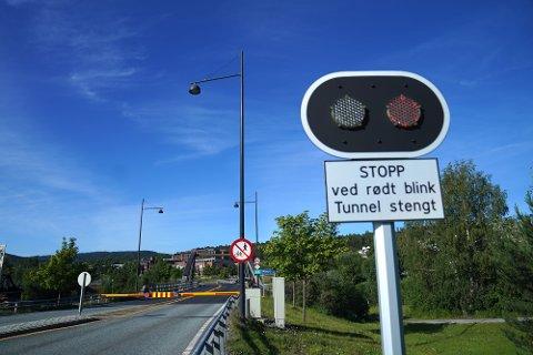 ÅPNER: Allerede neste uke vil det igjen være mulig å kjøre gjennom Måsørtunnelen på E6 i Steinkjer.