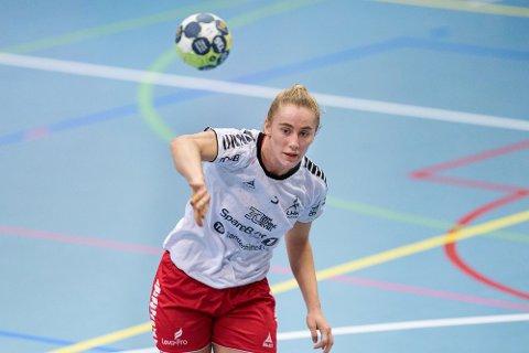 FJERDEPLASS: LHK-spiller Elisabeth Hammerstad deltok i forrige uke på EM i beachhåndball.