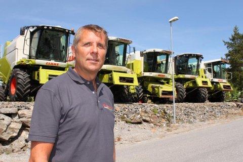 NY TRAKTORBUTIKK: Frank Arvid Karling etablerer et nytt foretaket på Skatval som skal representere produktspekteret fra Norwegian Agro Machinery, blant annet Claas.