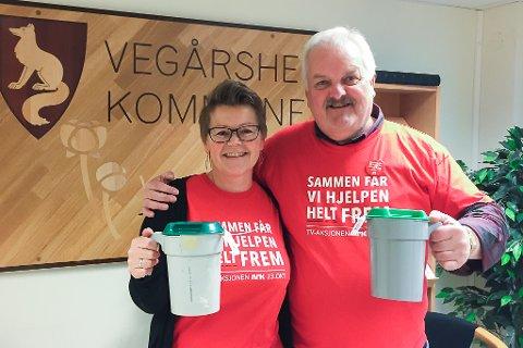 Aksjonsleder John Geir Smeland og Aina Voie, konsulent i rådmannens stab.