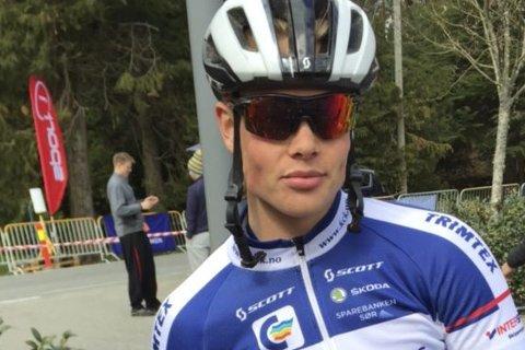 Sterk innsats: Alexander Sterk-Hansen slo alle «rekordrytterne» i søndagens Bukkene Bruse-ritt i Grimstad.