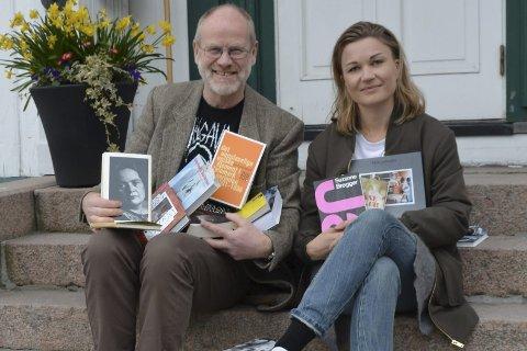 Stjernelag: Mangeårig bokbygeneral Jan Kløvstad har i år fått hjelp av Mari Nymoen Nilsen til å hanke inn forfatterstjerner til årets litteraturfestival Bokstavelig talt. Foto: Olav Loftesnes