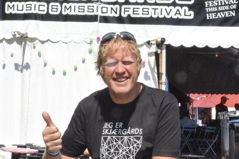 Jarle Storebø: Godt fornøyd med både publikum, musikk og vær under årets festival. Arkivfoto
