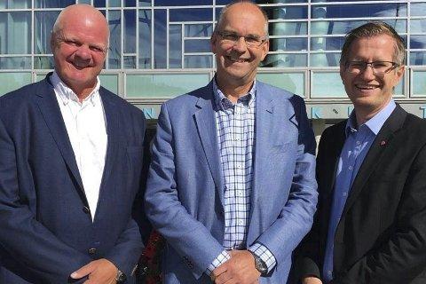 Enige: Ordførerne Jan Dukene fra Tvedestrand, Kjetil Glimsdal fra Grimstad og Robert Cornels Nordli fra Arendal kommune.