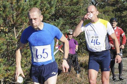 FØrst: Sten Åge Nygårdseter (foran) og Kåre Ulevåg hadde følge over Fagerhei i fjor. I år var Nygårdseter langt foran. Arkivfoto