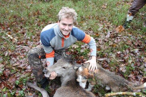 Kjetil Aanonsen Nygaard skjøt denne hjorten på Askerøya 26. november. Privat foto