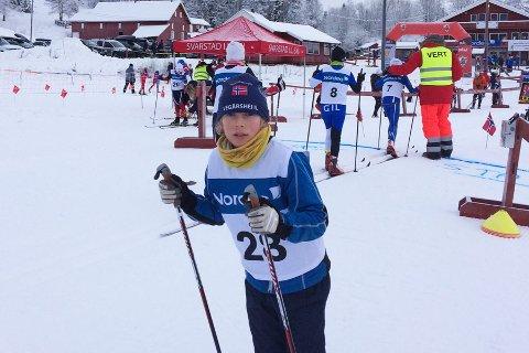 Vemund Myhre fra Vegårshei ble nr. 2 i Svarstadrennet lørdag. Privat foto