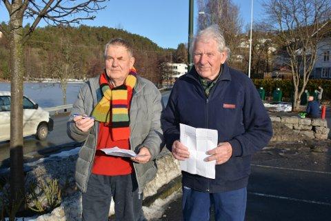 H.C. Hanssen og Anton Christiansen har startet underskriftskampanje for å få en slutt på fiskerestriksjonene.