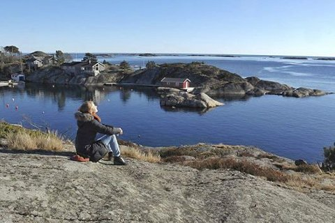 Vinter i Norge: Borøya outside Tvedestrand 24 February. #tvedestrand #borøya #tvedestrandsposten, skriver fotograf Knut Eidbo.