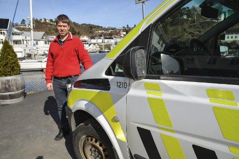 Avslørte bande: Etterforskningsleder Morten Tobiassen sier det var et tips fra vegårshei som gjorde at to betjenter fra Tvedestrand lensmannskontor klarte å pågripe to av de fire estlenderne som nå sitter på tiltalebenken i Kristiansand tingrett.