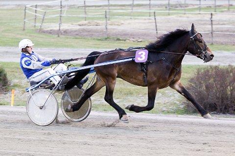 Klosterskogen17042016_Kjell Løvdal vant V5-4 med Wellek_Foto Morten Skifjeld/Hesteguiden.com