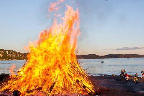 Meld fra hvor du skal brenne bål.