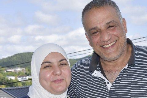 Stolt og glad: Asmaa Alkhadhra er veldig imponert over mannen sin, Jamal Statytiya.