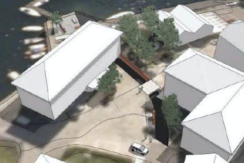 Skal åpnes: Før neste sommer vil Møllebekken bli åpnet. Tellpsen-familien har lovet å bidra med 1,3 millioner kroner. Illustrasjon: Feste arkitekter
