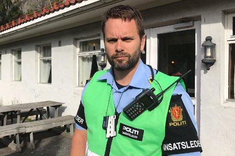 Glenn Sollid har vært politiets innsatsleder i leteaksjonen.