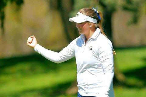 Karoline Stormo spilte veldig bra i golf-NM, og var ikke langt unna mesterskapstittelen.