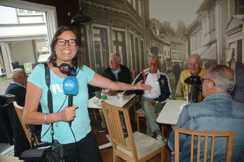 - Jeg forelsket meg i disse karene da jeg var her tidligere i sommer. Nå ville jeg tilbake hit, fortalte NRK-reporter Caroline Bækkelund Hauge.