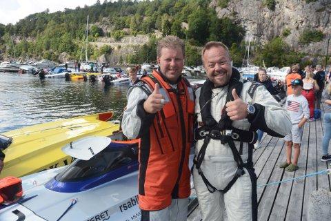 Jan Trygve Braaten hadde med seg Asgeir Borgemoen på dagens race, og det endte med seier. Foto: Øystein K. Darbo