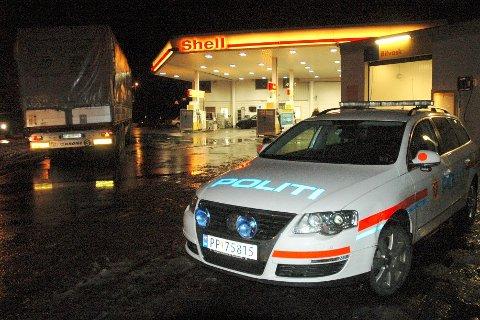 Det var i natt at sjåføren ble observert på Shell.