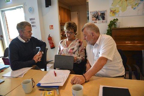 I utakt: Høyres tre kommunestyrerepresentanter, Knut Aall, Marianne Landaas og Ole Goderstad har ofte vært uenige. Landaas og Goderstad har stort sett vært enige, mens Aall har stemt anderledes.