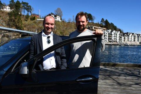 Øystein Haugenes og Andreas Jahren lanserte spenstige planer på fjordhotellet lørdag.