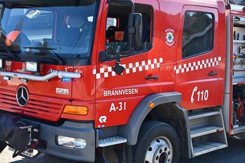 Tok en sjekk: Brannvesenet i Tvedestrand tok en sjekk med varmesøkende kamera i eneboligen for sikkerhets skyld.