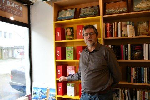 Jarmo Røvik er daglig leder i Tvedestrand Bokhandel, som sist måned søkte om penger til å utvikle Litteraturhuset (skiftet navn til Bokhuset) Arkivfoto