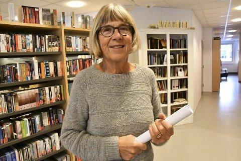 Engasjert: Marit Aass, leder av den nye foreningen Bokbyen Tvedestrand, har sans for ideen om ei kjempebok på Grenstøl.