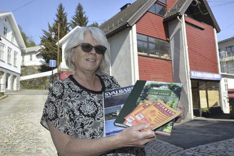 Bokbyleder Solveig Røvik åpnet nylig litteraturhuset i Tvedestrand. Foto: Frode Gustavsen
