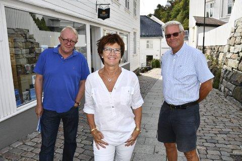 Birger Eggen, Marianne Landaas og Erling Holm ønsker best mulig uttelling for Høyre i forhandlingene.