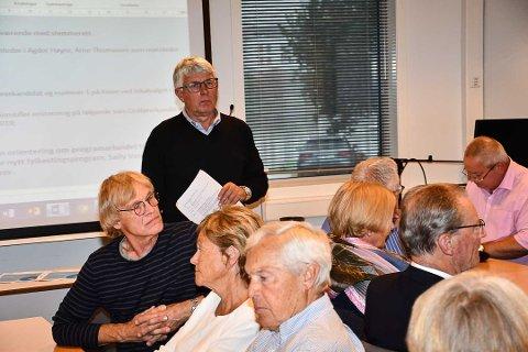 Arne Thomassen (H) blir ny fylkesordfører i Agder. Her er han på Tvedestrand Høyres nominasjonsmøte i august i fjor.