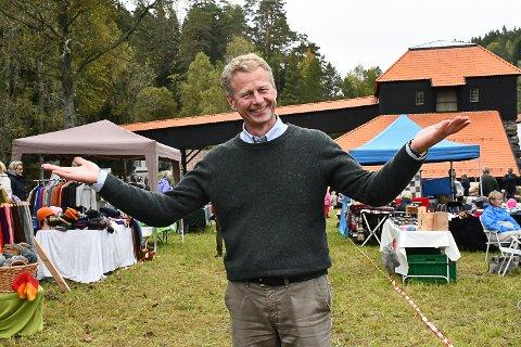 Museumsdirektør Knut Aall har grunn til å smile etter årets høstmarked.