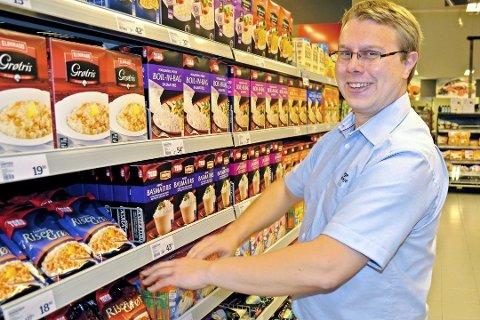 """Bidrar til mindre matsvinn: Menybutikkene er med på ordningen """"Too good to go"""", en app som lar deg kjøpe ferske varer som ellers ville gått i søpla."""
