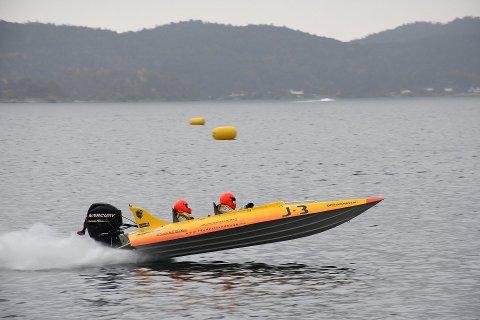 Snart klar: Det som skal være barnas lekebåt på Grenstøl er en liten offshorebåt av denne typen. Arkivfoto